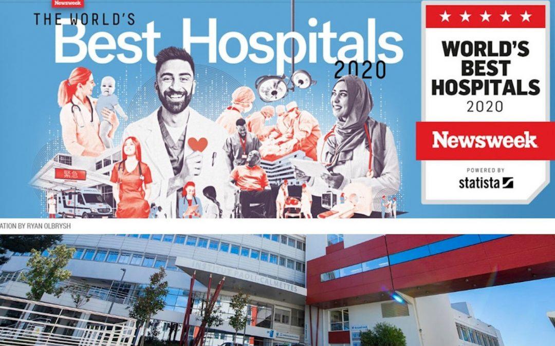 L'Institut Paoli-Calmettes intègre le classement mondial Newsweek  dans la catégorie  « Best Hospitals – Top Specialized Oncology »
