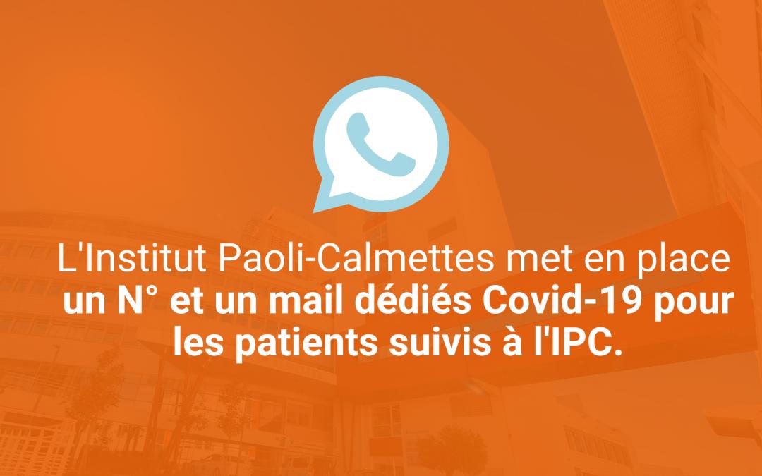 Un numéro et un mail dédiés au Covid-19 à l'IPC