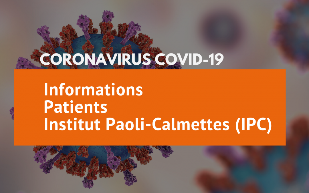 Coronavirus COVID-19 : Toutes les informations patients IPC