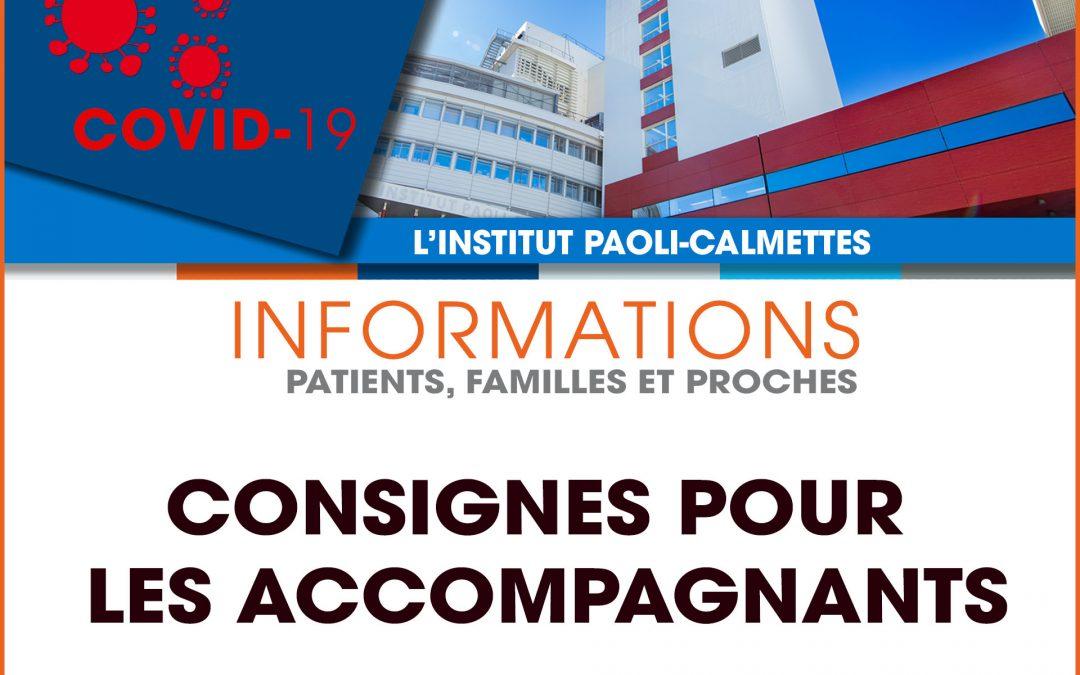 Mise à jour des consignes d'accompagnement des patients