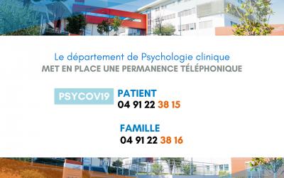 Suivi psychologique – Permanences téléphoniques