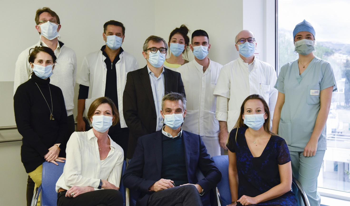 Membres de l'équipe en charge des cancers du colon et du rectum à l'IPC.