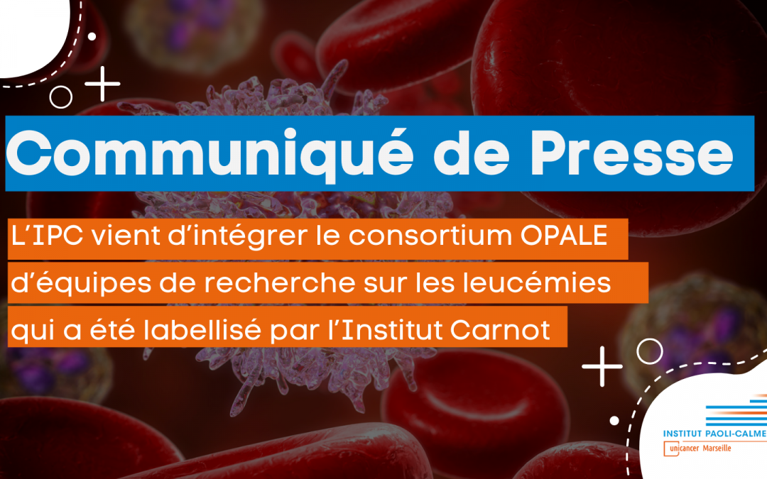 Communiqué de presse : à L'IPC la recherche en hématologie franchit un nouveau palier